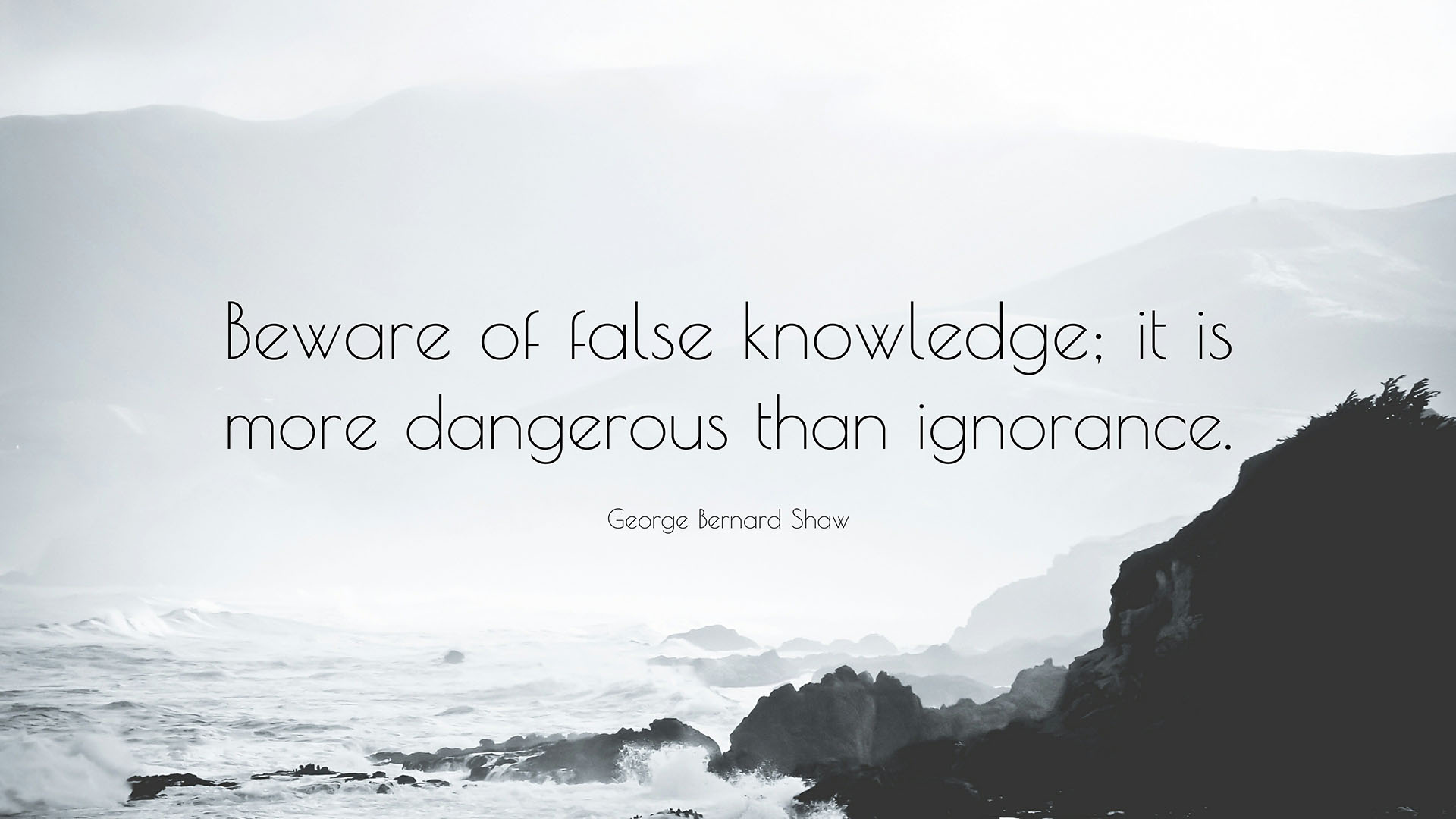 beware of false knowledge