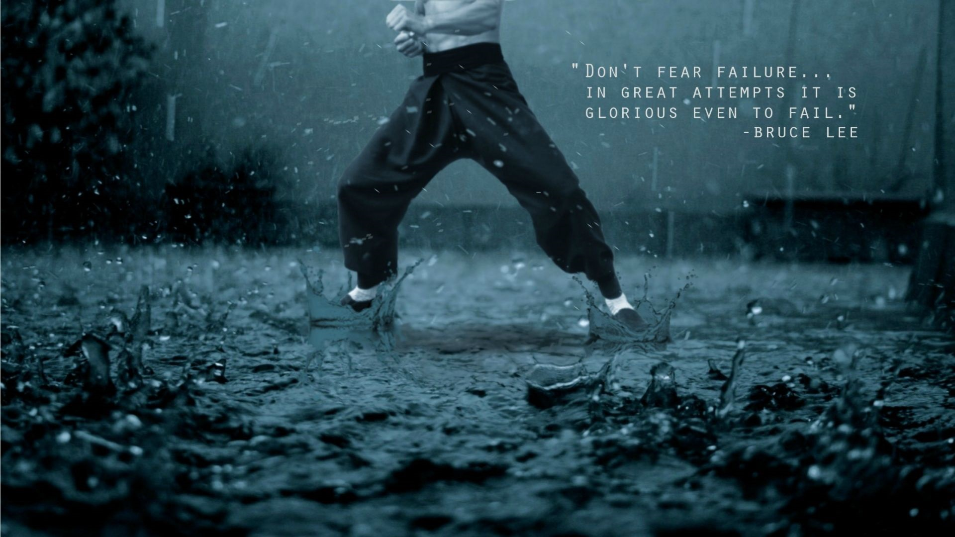 dont fear failure - bruce lee quote