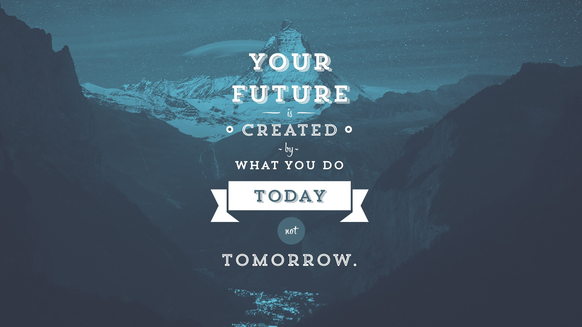 what you do today not tomorrow