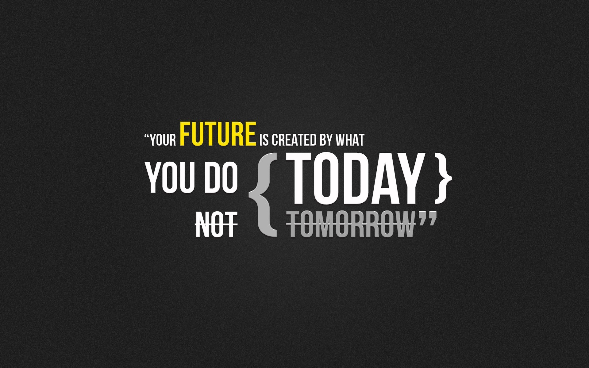 Future is created by what you do today