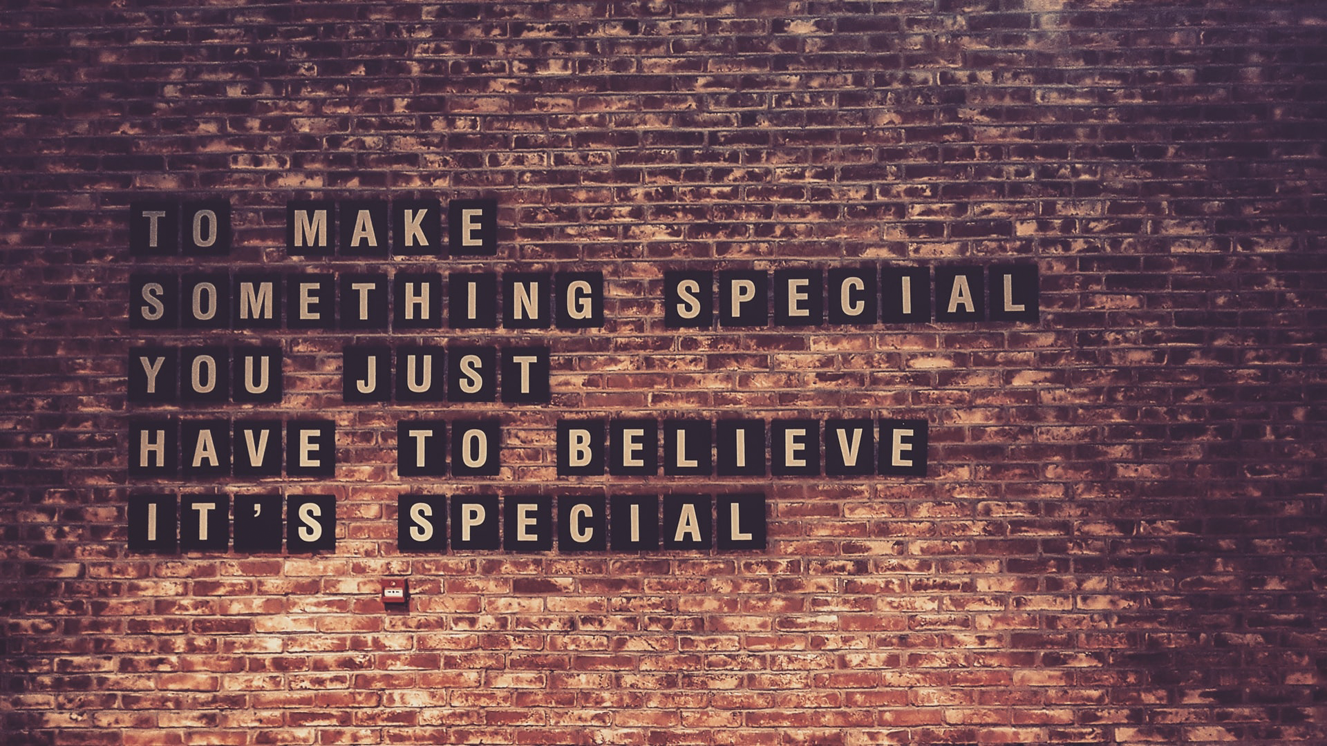 To Make Something Special You Just Have To Believe Its Special
